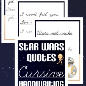 star wars handwriting, star wars cursive handwriting