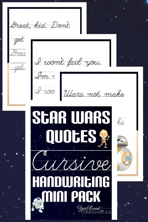 star wars handwriting, star wars cursive handwriting