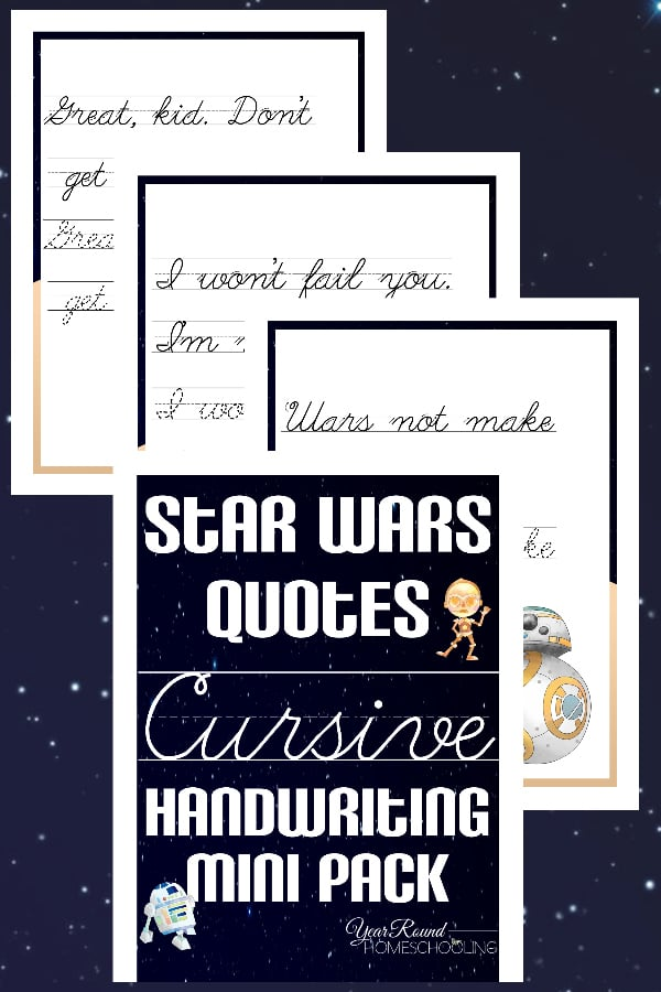 Star Wars Cursive Handwriting Mini Pack