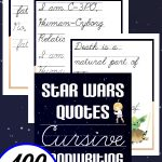 Star Wars Cursive 100 Quotes Pack
