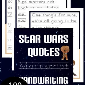 star wars handwriting, star wars manuscript handwriting