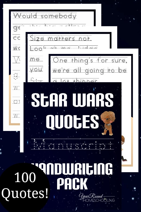Star Wars Manuscript 100 Quotes Pack