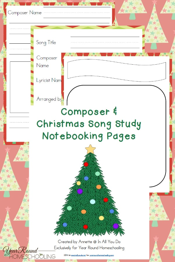 Christmas Music Notebooking Pages