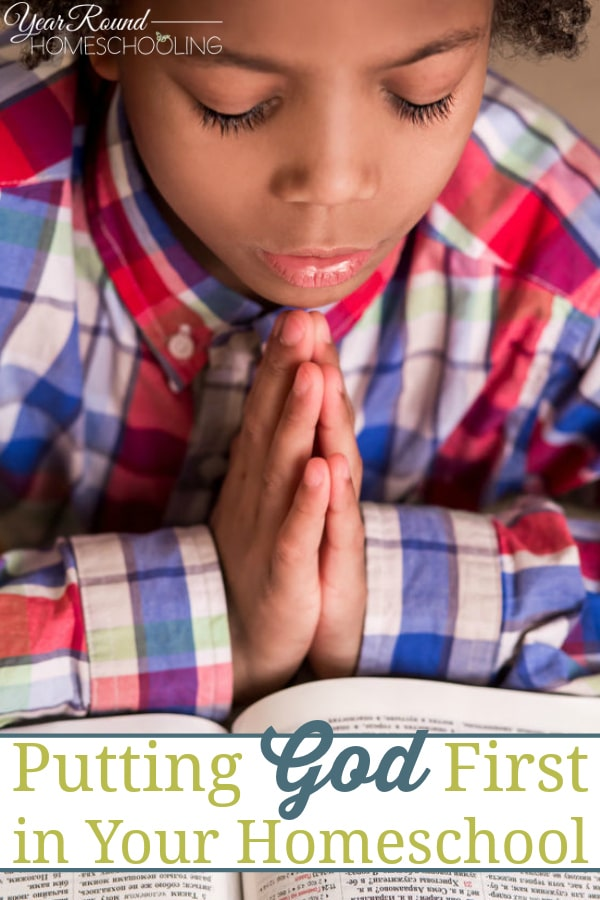 putting God first, God first in homeschool