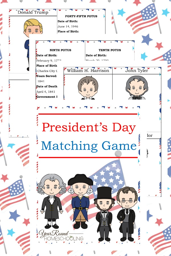 President's Day Matching Game