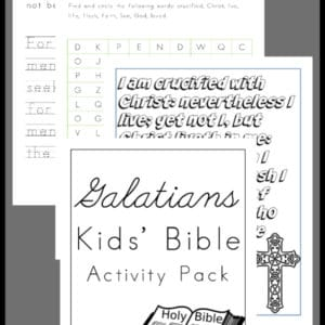 Galatians Activity Pack for Kids, Galatians Activity Pack