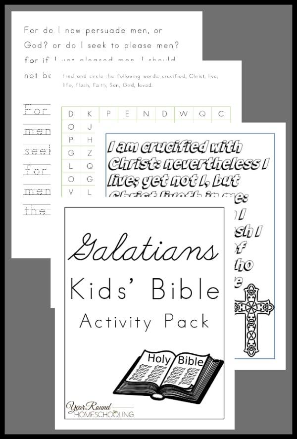 Galatians Activity Pack for Kids, Galatians Activity Pack