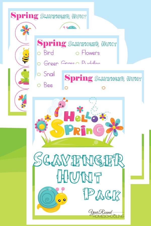 Hello Spring Scavenger Hunt - Year Round Homeschooling