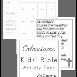 Colossians Activity Pack for Kids, Colossians Activity Pack