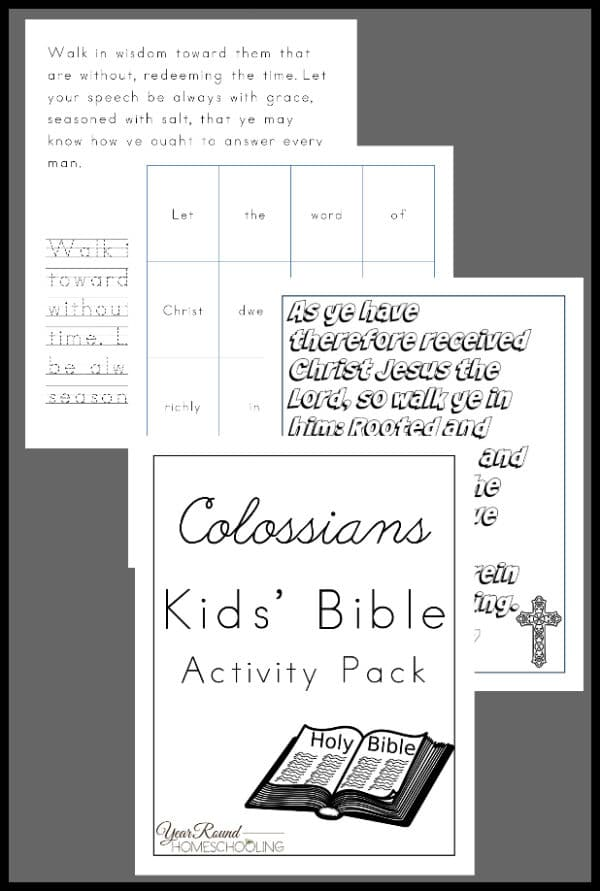 colossians kids bible activity pack, colossians bible kids activity, colossians bible, colossians kids activity, colossians bible study