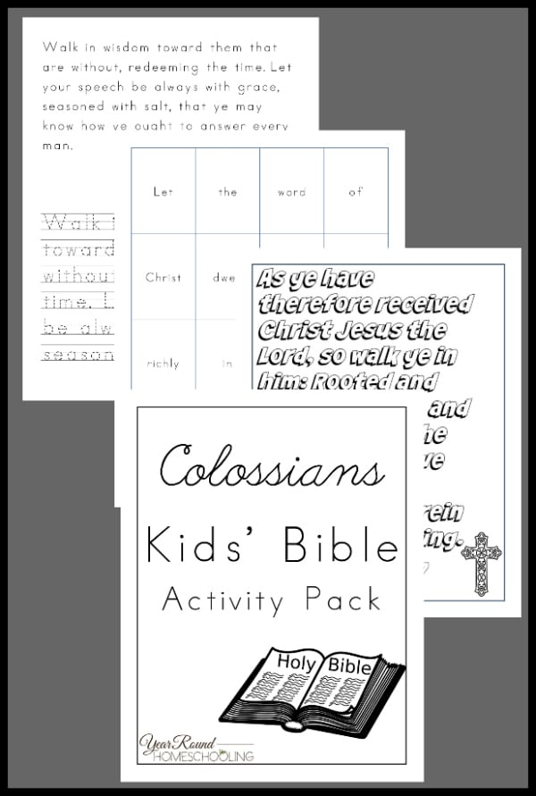 Colossians Kids' Bible Activity Pack