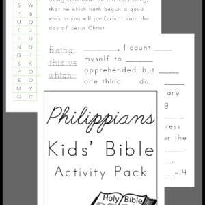 Philippians Activity Pack for Kids, Philippians Activity Pack