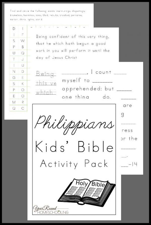 Philippians Activity Pack for Kids, Philippians Activity Pack