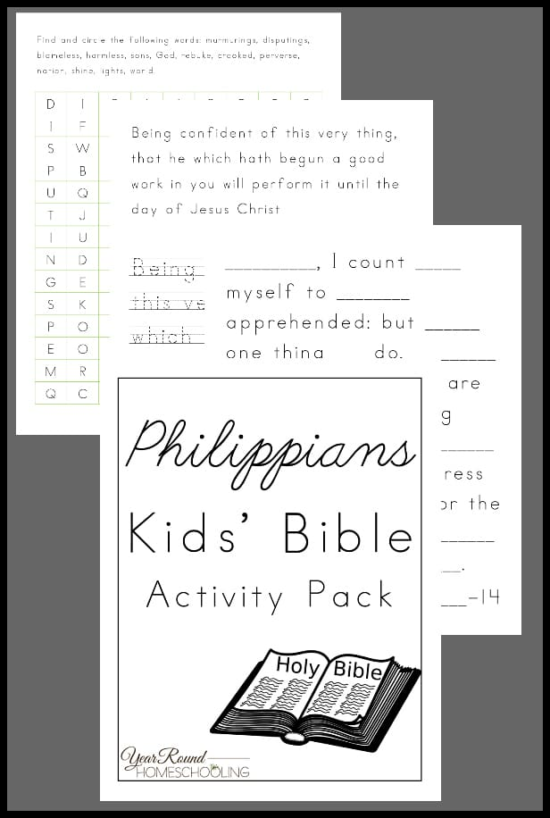 Philippians Kids' Bible Activity Pack
