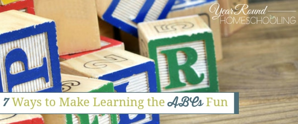 7 Ways to Make Learning the ABCs Fun