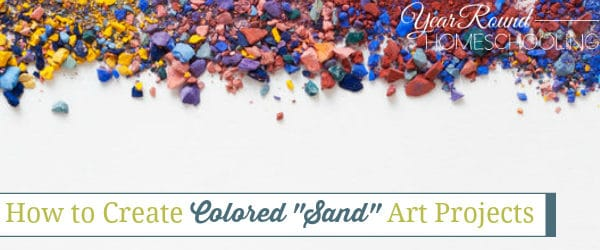"""How to Create Colored """"Sand"""" Art Projects"""