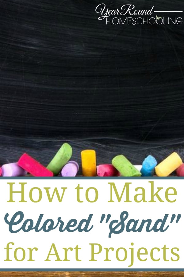 how to make colored sand, colored sand art projects, colored sand art