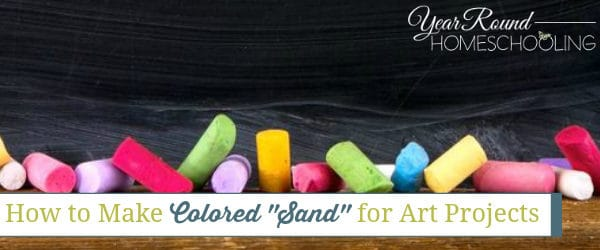 """How to Make Colored """"Sand"""" for Art Projects"""
