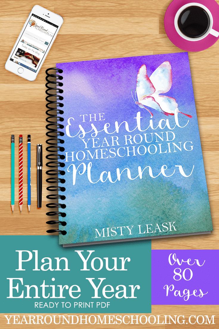 year round homeschooling planner, year round homeschool planner, homeschool planner