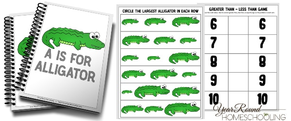 A is for Alligator Activity Pack
