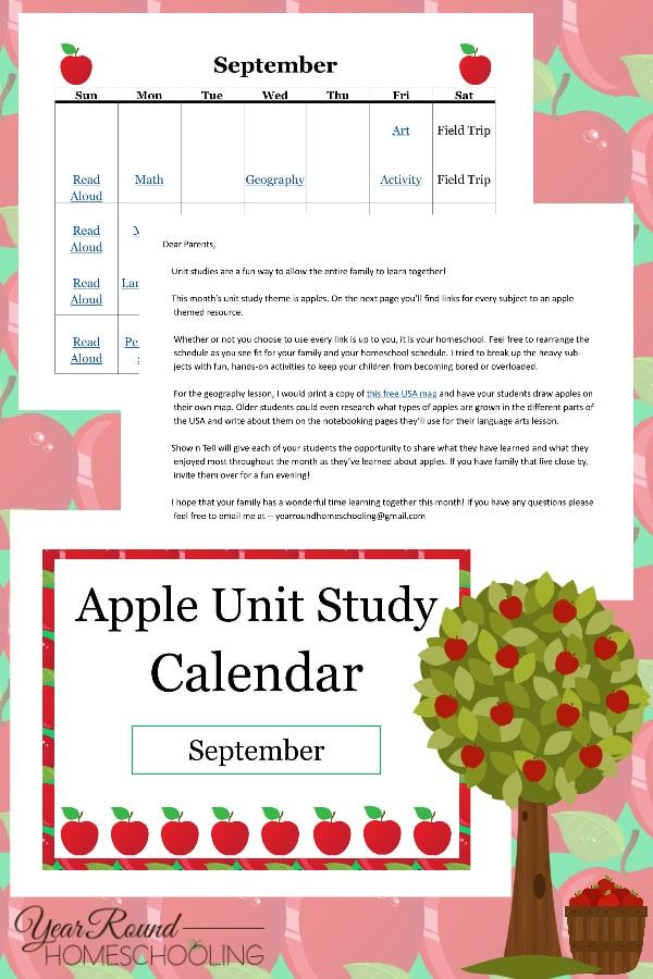 apple unit study