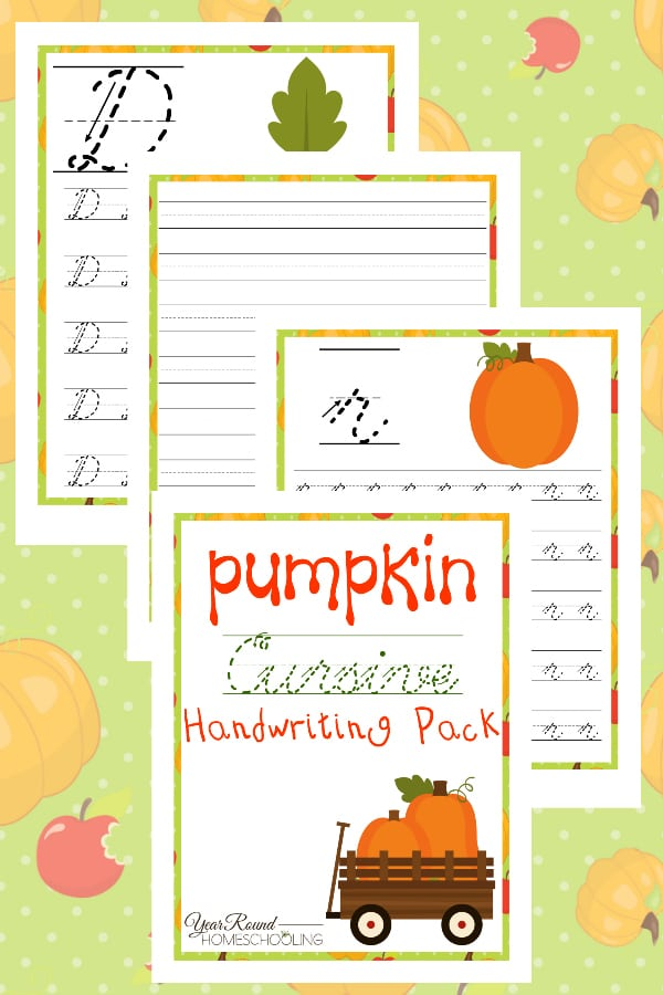 Pumpkin Cursive Handwriting Pack