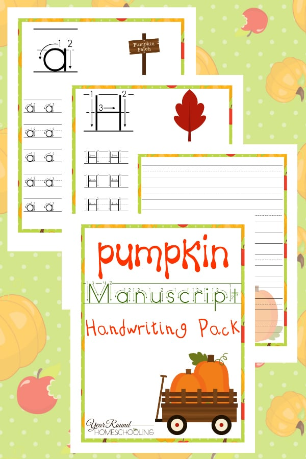 Pumpkin Manuscript Handwriting Pack
