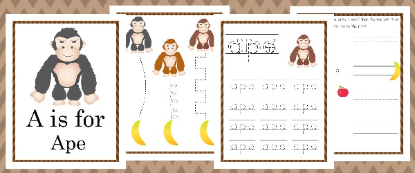 A is for Ape Activity Pack