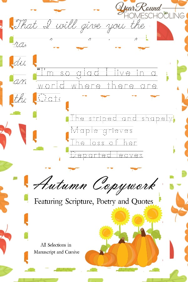 Autumn Copywork