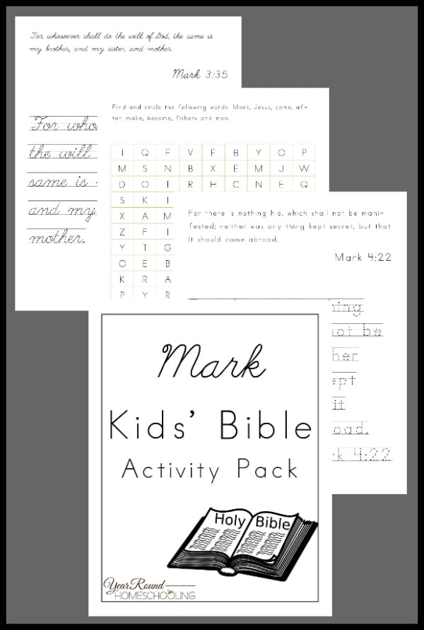 mark kids bible activity, mark kids bible