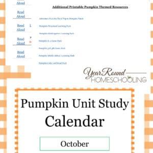 pumpkin unit study