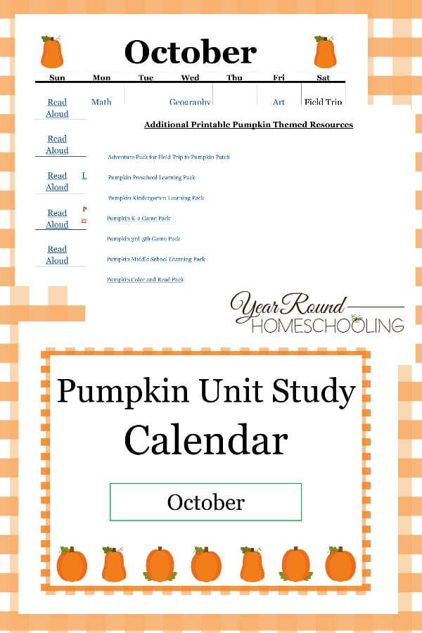 pumpkin unit study