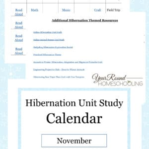 hibernation unit study