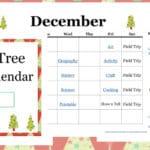 Christmas Tree Unit Study Calendar
