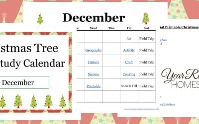 Christmas Tree Unit Study Calendar