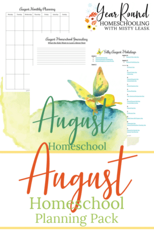August Planning Pack