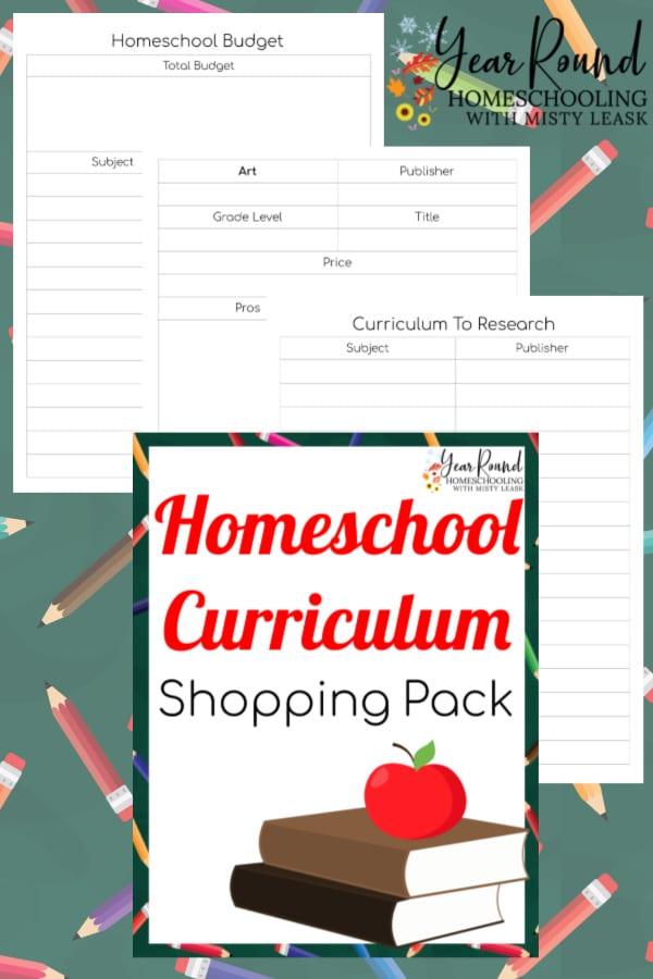 homeschool curriculum shopping pack, homeschool curriculum shopping list, homeschool curriculum shopping pages, homeschool curriculum shop