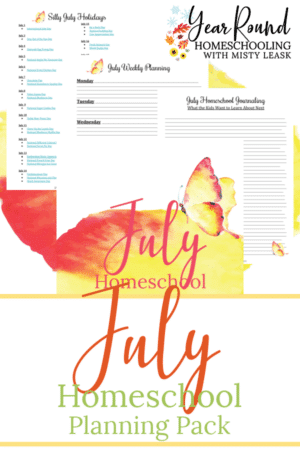July Planning Pack