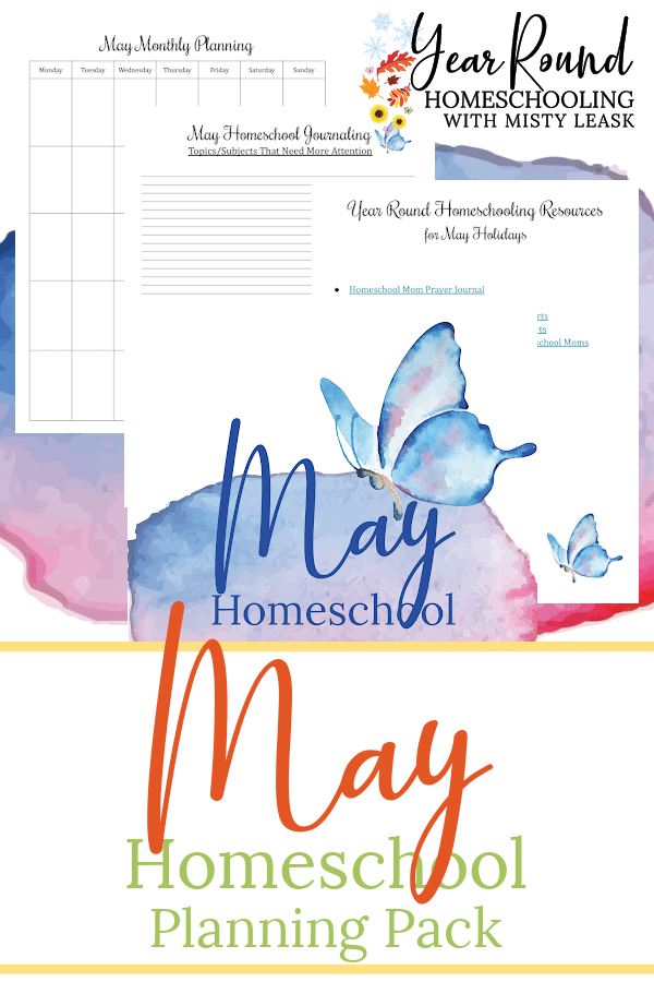 may homeschool planning pack, may homeschool planning