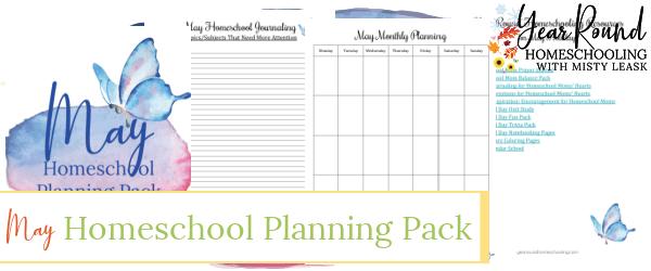 may homeschool planning pack, may homeschool planning