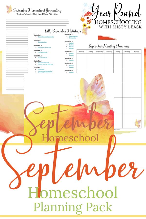 september homeschool planning pack, september homeschool planning, homeschool planning september