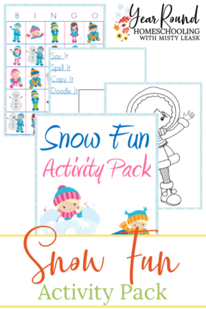 Snow Fun Activity Pack