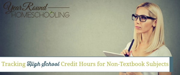 Tracking High School Credit Hours for Non-Textbook Subjects