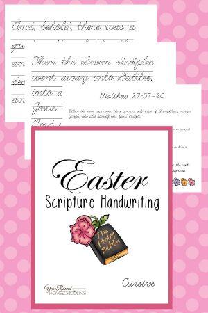 Easter Scripture Cursive Handwriting Pack