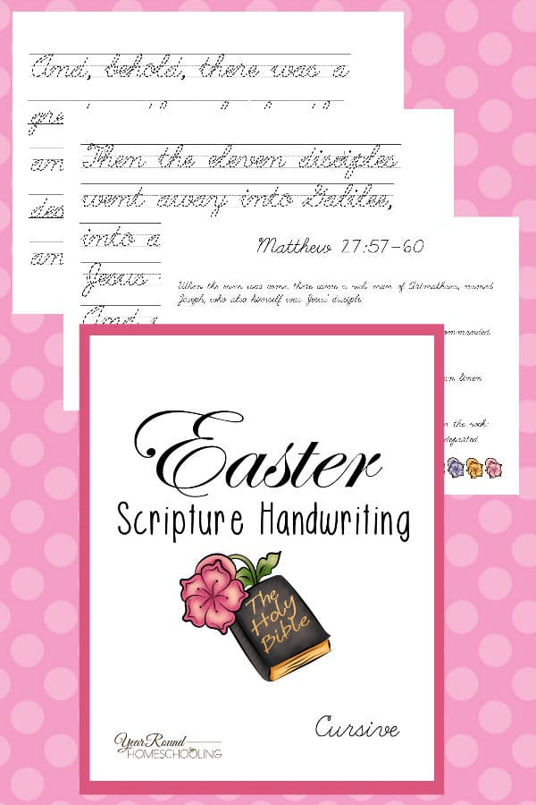 easter scripture cursive handwriting pack, cursive easter scripture handwriting, elementary easter scripture handwriting, middle school easter scripture handwriting, easter scripture handwriting, easter scripture penmanship, easter handwriting, easter penmanship