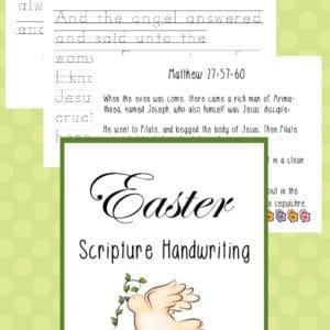 easter scripture manuscript handwriting pack, manuscript easter scripture handwriting, elementary easter scripture handwriting, easter scripture handwriting, easter scripture penmanship, easter handwriting, easter penmanship