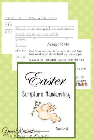 Easter Scripture Manuscript Handwriting Pack