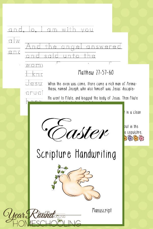 easter scripture manuscript handwriting pack, manuscript easter scripture handwriting, elementary easter scripture handwriting, easter scripture handwriting, easter scripture penmanship, easter handwriting, easter penmanship