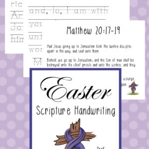 preschool easter scripture handwriting, kindergarten easter scripture handwriting, easter scripture handwriting, easter scripture penmanship, easter handwriting, easter penmanship