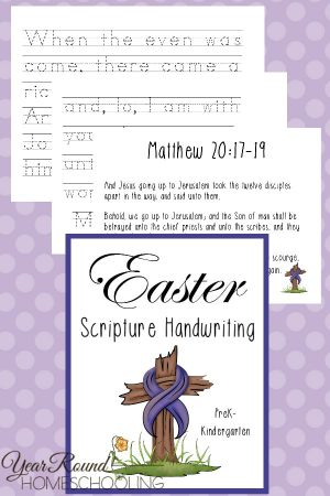 Easter Scripture Handwriting Pack – PreK-Kindergarten